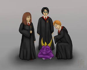 Harry potter and the purple dragon