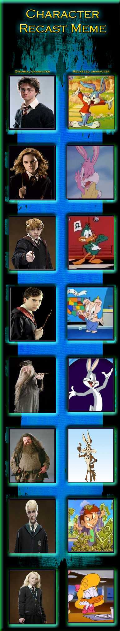 Character Recast Meme (HP and TTA/LT)