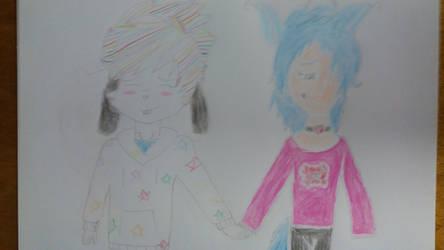 Art trade: kenta and Abbie
