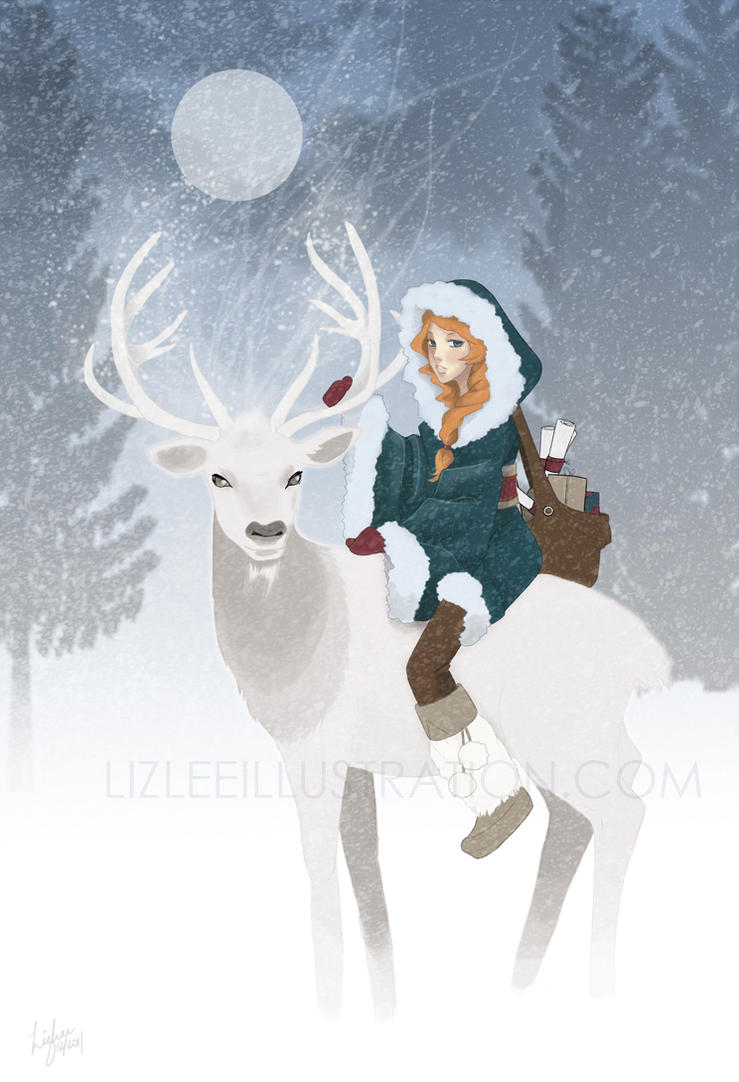 Holiday Spirit by lizleeillustration