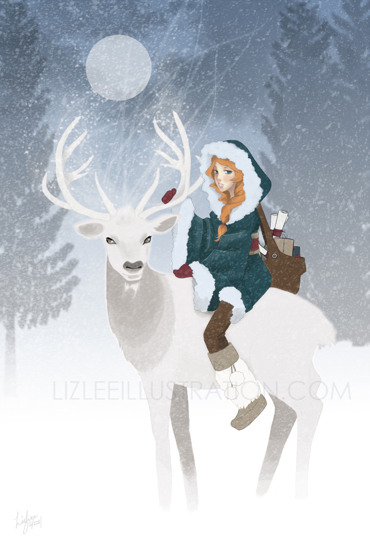 Holiday Spirit by lizleeillustration