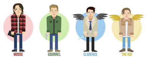 Team Free Will - Vector by lizleeillustration