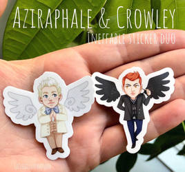 Good Omens Stickers by lizleeillustration