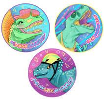 Dinosaur buttons!