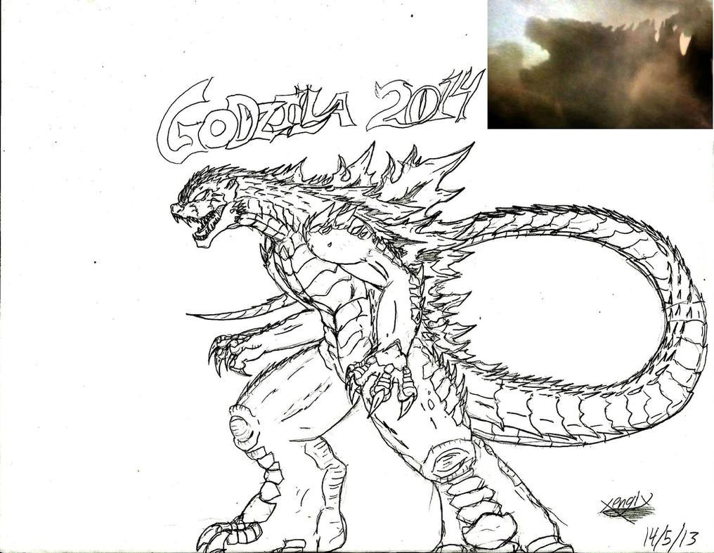 Godzilla 2014 my sketch by Xengix008Godzilla 2014 Sketch