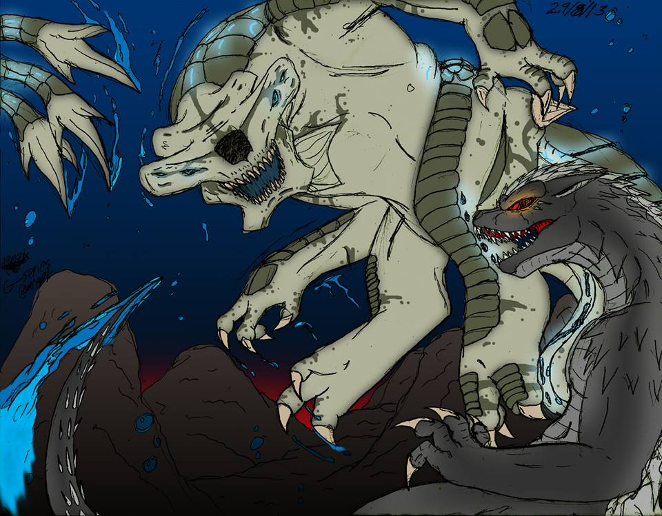 Godzilla Vs Slattern G-series Concept By Xengix008 On