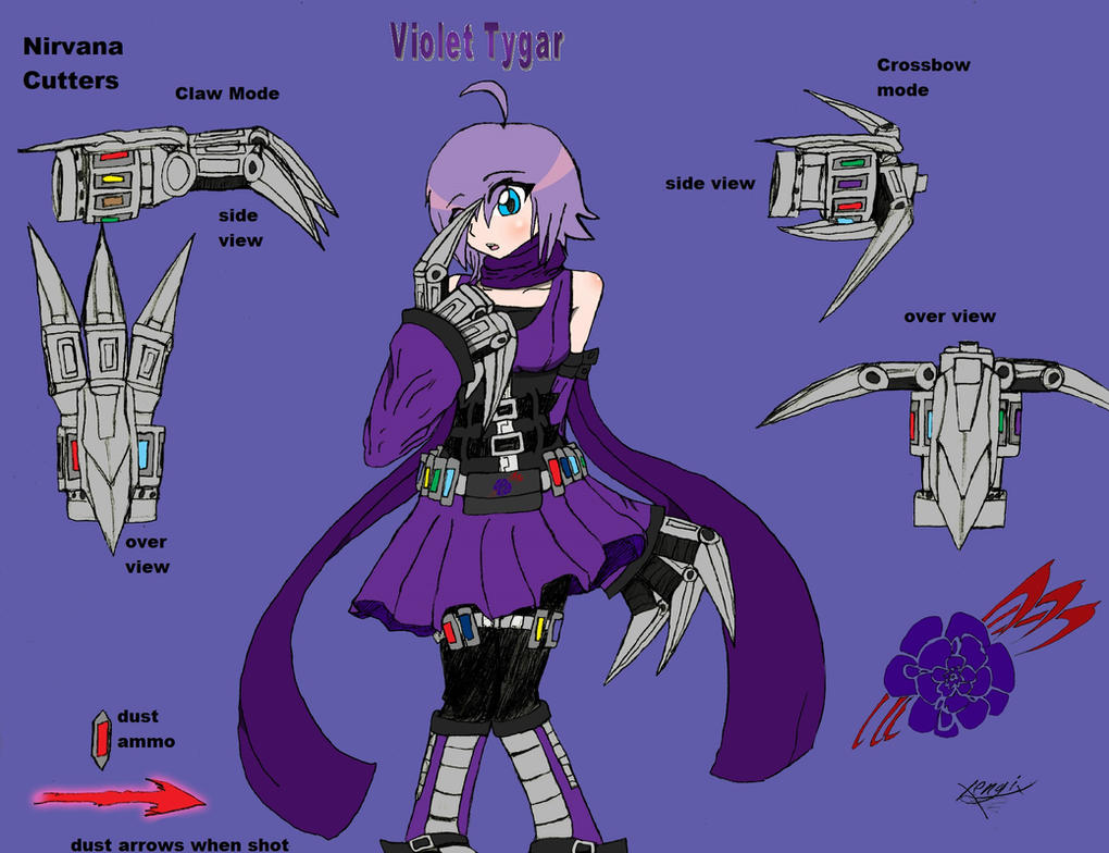 Violet Tygar- RWBY OC team VOID by Xengix008