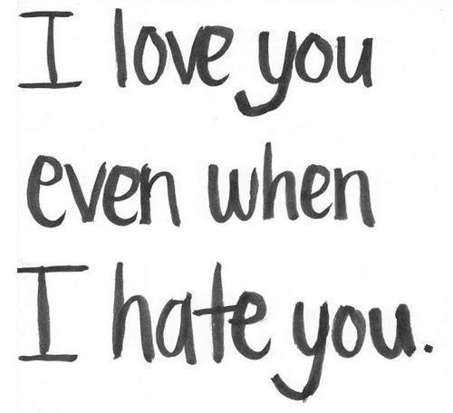 Quotes About Love And Hate: Love-Hate Quotes. QuotesGram