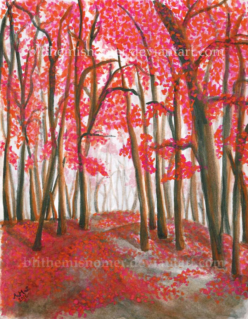 Blushing Forest by BlitheMisnomer