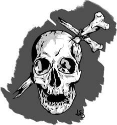 catholic skull by ansiaaa