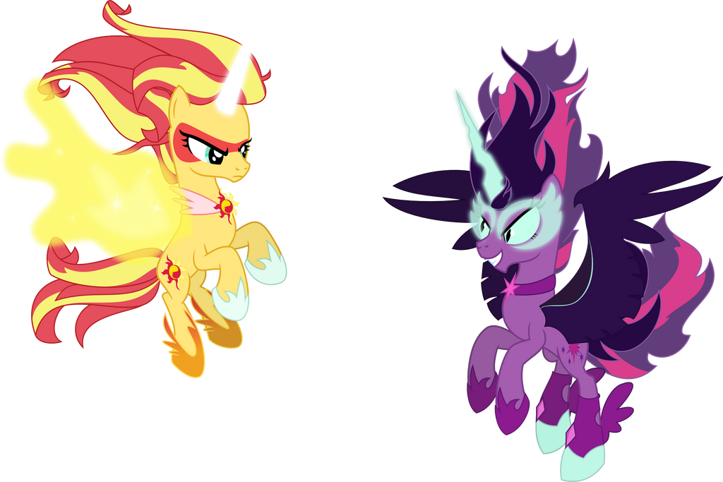 Daydream Shimmer Vs Midnight Sparkle Pony Version By