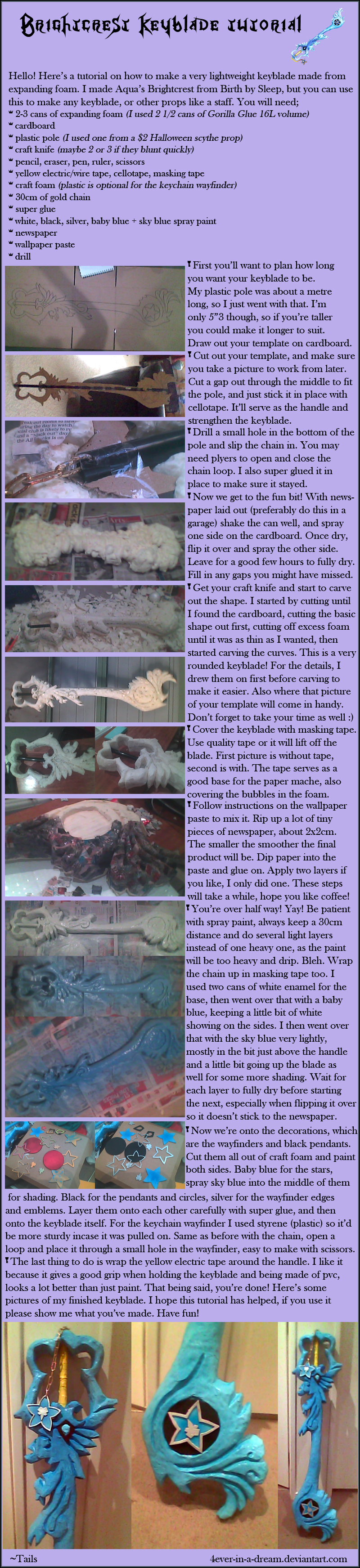 Brightcrest keyblade Tutorial by Fairie-Tails