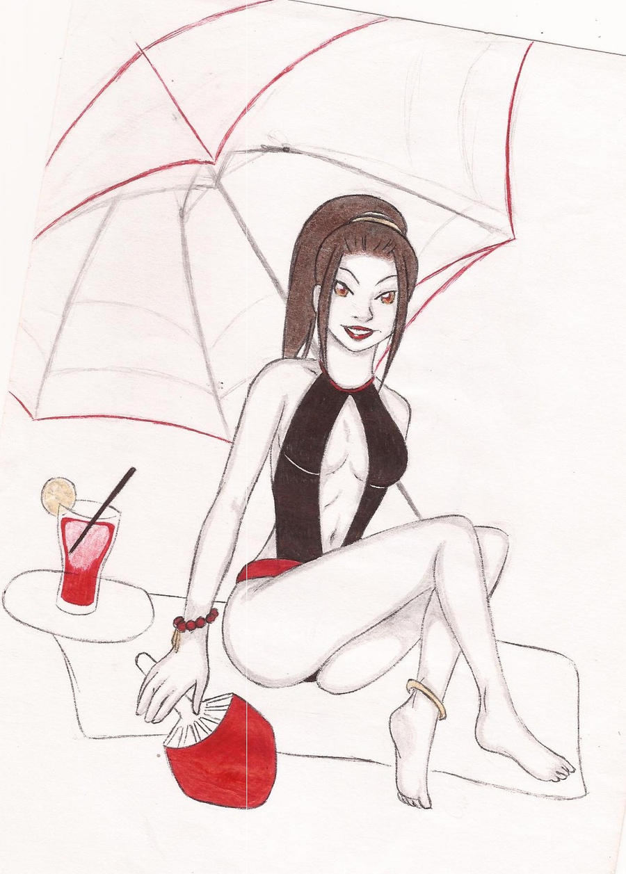 Old Times: Sexy Azula unfinished by Maoden-DOis