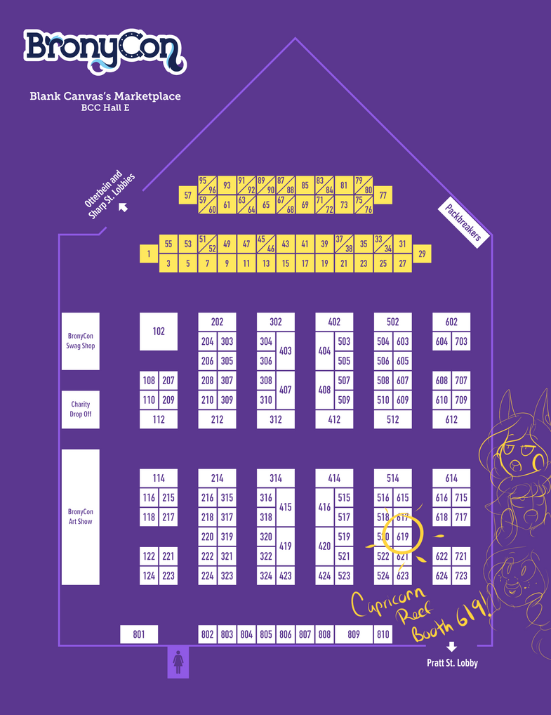 BronyCon-2018-Marketplace-Map-Exhibitor Email by TheEcchiQueen