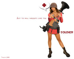 team fortress 2 soldier by iFrau