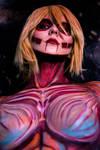 Female titan inspired body paint