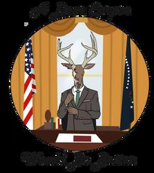 Deer corpse for president