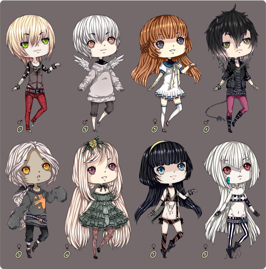 Adoptable Set IV Auction [Closed] by DeathatSunrise
