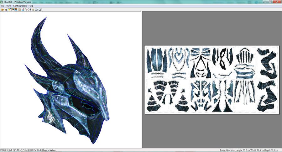 Deadric helmet papercraft by rundown-projects