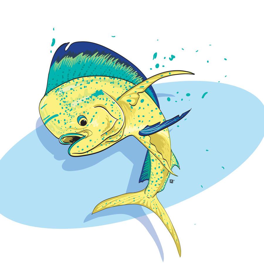 Dolphinfish drawing - photo#6