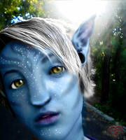 The silver haired na'vi by sora507