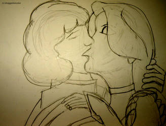 Odette and Derek sketch by druggedoncolor