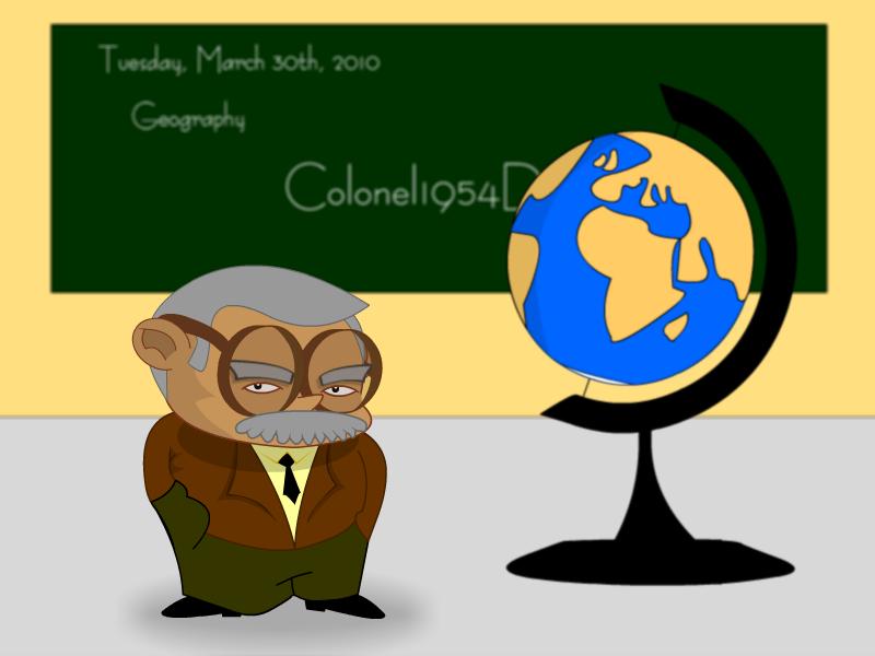 Looks like a geography teacher – Richard Osley