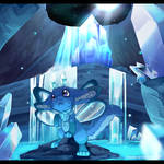 Crystal Cave YCH for LionheartedPhoenix