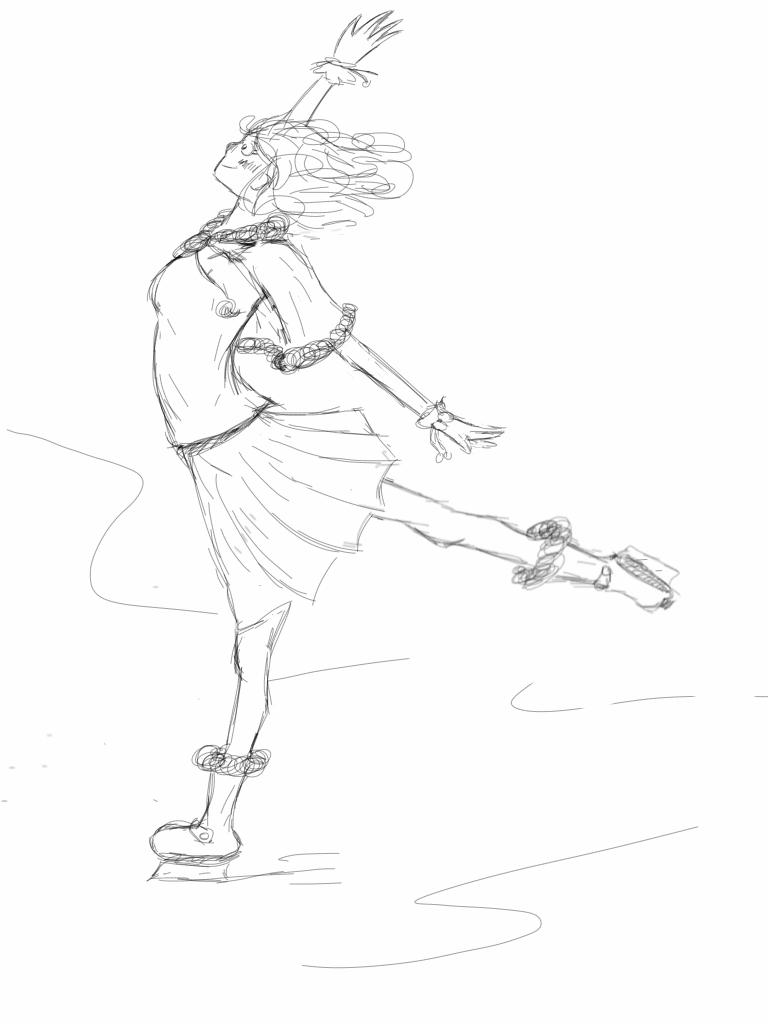 Ice Skating by SayoArt on DeviantArt  |Drawing Ice Skater