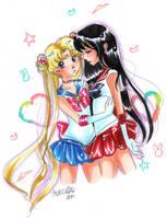 Usagi and Rei by loriofpandora