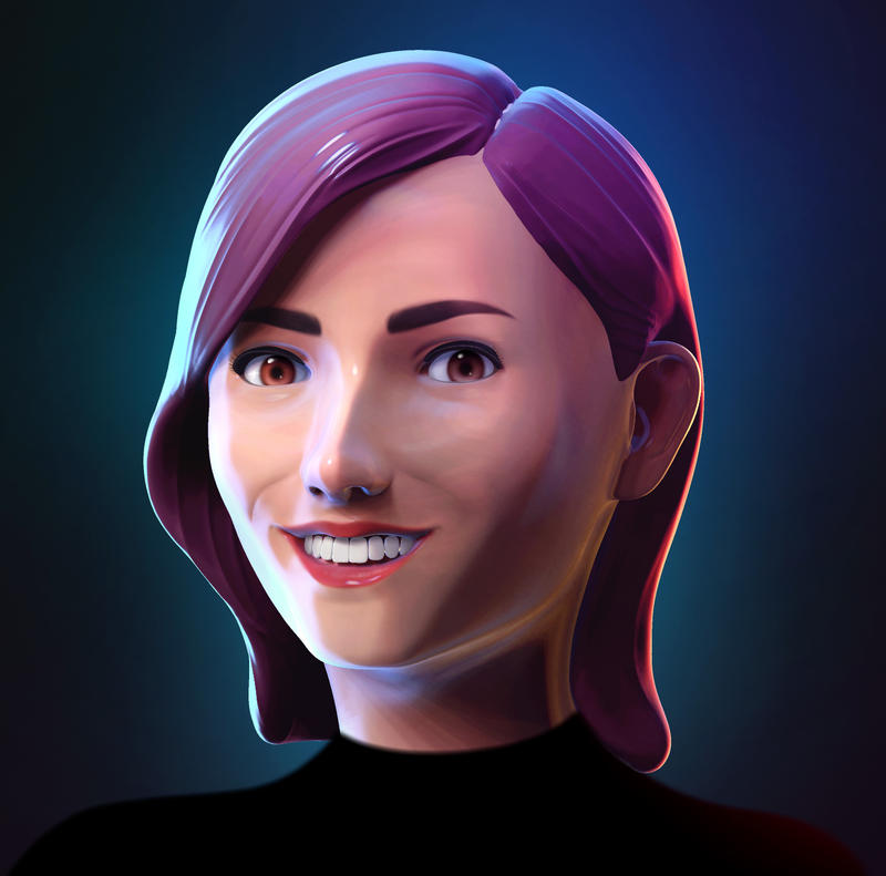 3D Teen Girl Portrait by Hakan-AYDIN