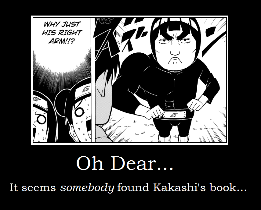 Might Guy Demotivational by Narutofan720