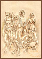 Bestiary - Gargoyles by MamonnA