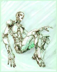 Green cyborg by MamonnA