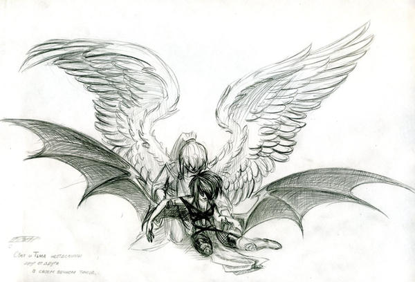 Angel and Demon by MamonnA on DeviantArt
