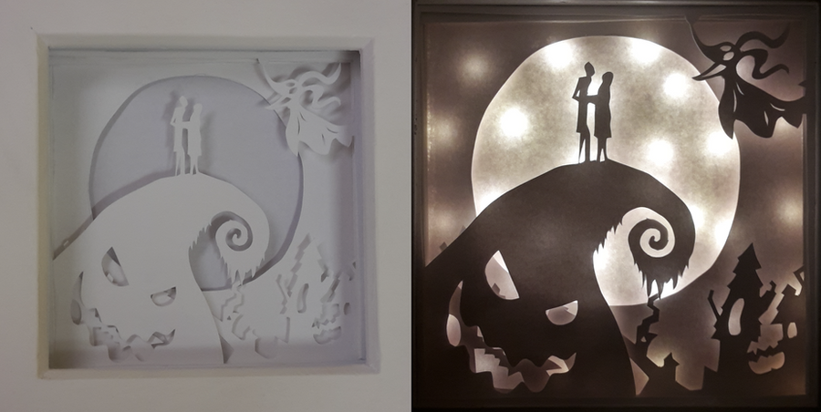 the nightmare before christmas light box by fia94 - Nightmare Before Christmas Lights