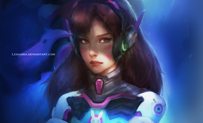 D.Va - Overwatch by Lesvaria