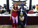 Huntress and Scarlet Witch