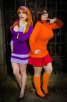 Scooby Doo Sexy Velma and Daphne Cosplay