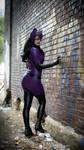 Purple Catwoman Cosplay Costume