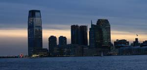 Jersey City Skyline at Sunset