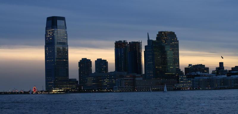 Jersey City Skyline at Sunset by themindofmadness