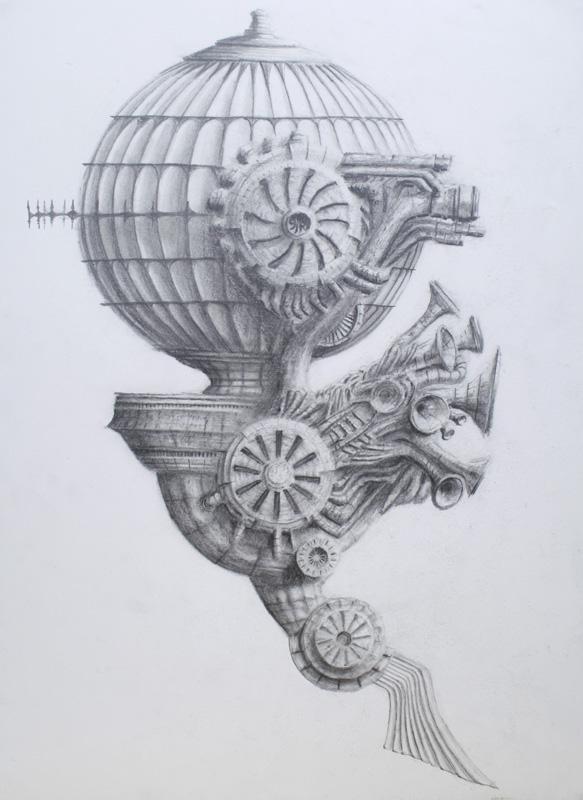 Airship IV by ChrisBeckerArt
