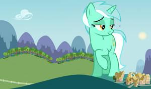 Lyra Heartstrings' encounter with Night Glider by jerryakiraclassics19