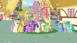 Ponies wearing Princess Cadence's accessories by jerryakiraclassics19