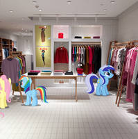 Ponies in the Fashion Store by jerryakiraclassics19