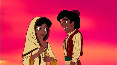 Aladdin and Jasmine 2019 by Syrma-Deathwhisper