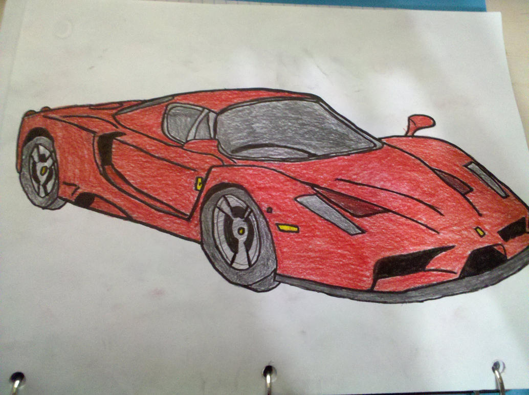 how to draw a ferrari enzo- #images
