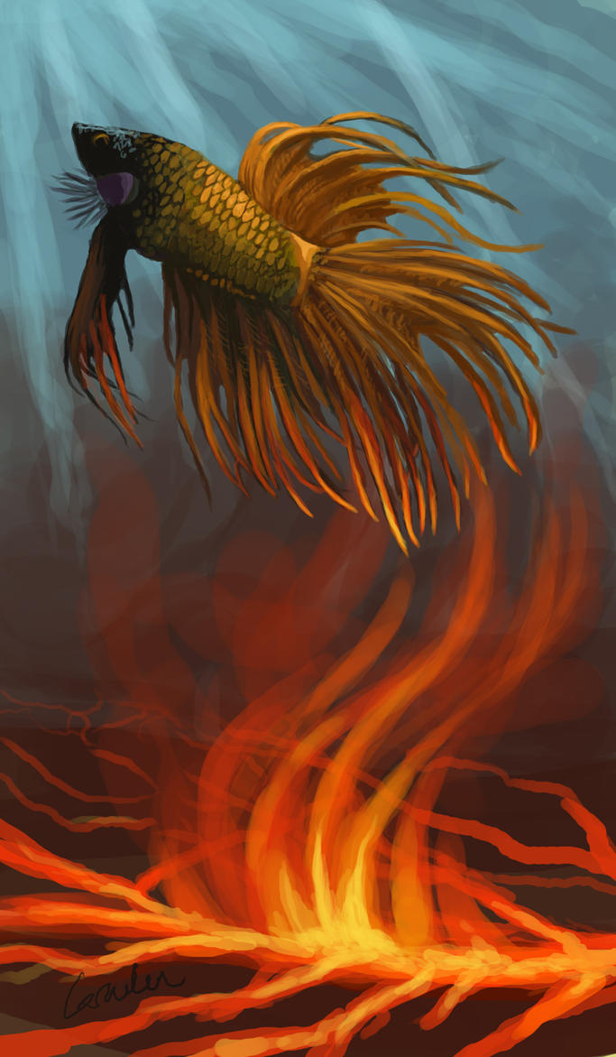 Phoenix fish by griffin fire on deviantart for Fish on fire