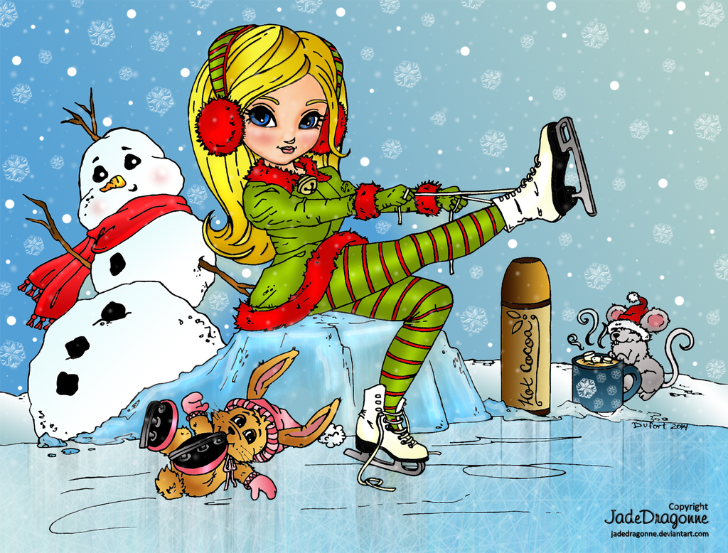 Ice Skating by Dianabolique